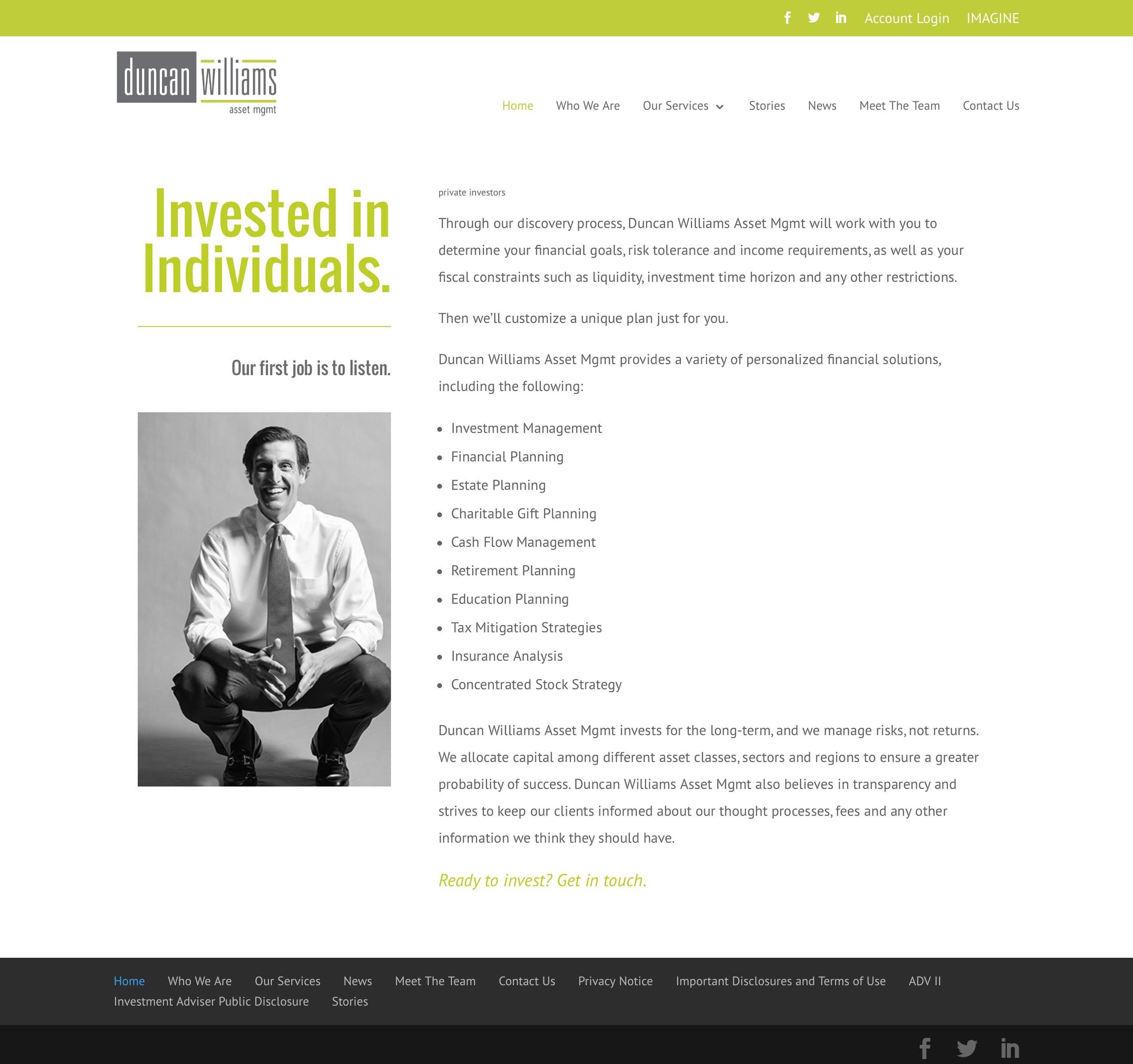 individual investments for Duncan Williams Asset Management